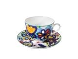 Imperial Porcelain Lomonosov Porcelain Spring-2 Bone China Tea Set 2 pc Katya