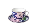 Russian Porcelain Lomonosov Porcelain Spring-2 Bone China Tea Set 2 pc Vera