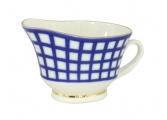 Russian Porcelain Porcelain Large Gravy Boat Cobalt Cell 6.76 fl.oz/200 ml