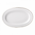 "Lomonosov Porcelain Oval Platter Herring Dish Golden Ribbon 9.8""/250mm"