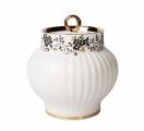 Lomonosov Imperial Porcelain Sugar Bowl Wave Tiny Branches 13.9 oz/390 ml