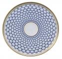 "Lomonosov Imperial Porcelaine Round Cake Platter Dish Cobalt Net 11.8""/ 300mm"