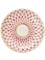 """Russian Porcelain Porcelain Jam Dish Tulip Red Net Blues 3.9"""""""