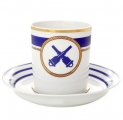 Lomonosov Porcelain Tea Cup with Saucer Navy Style #6 7.4 oz/220 ml