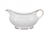 Imperial Porcelain Bone China Gravy Boat Nega Golden Ribbon 9.8 fl.oz/290 ml