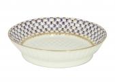 "Lomonosov Imperial Porcelain Cake Сookie Biscuit Pastry Dish Wave Cobalt Net 6.7"""