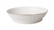 """Imperial Porcelain Porcelain Cake Сookie Biscuit Pastry Dish Wave Golden Edge 6.7"""""""