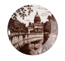"Decorative Wall Plate St. Isaac's Cathedral St.Petersburg 7.7""/195 mm Lomonosov Imperial Porcelain"