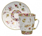 Lomonosov Porcelain Bone China Cup and Saucer May Golden Branches 5.6 fl.oz/165 ml 2 pc