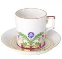 Imperial Lomonosov Porcelain Tea Cup with Saucer Moscow River 7.4 oz/220 ml