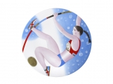 "Decorative Wall Plate Summer Olympic Games Pole Vault 10.8""/275 mm Lomonosov Imperial Porcelain"
