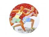 "Decorative Wall Plate Summer Olympic Games Track and Field Running 10.8""/275 mm Lomonosov Imperial Porcelain"