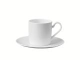 Lomonosov Porcelain Porcelain Tea Cup and Saucer Premium White 3.4 fl.oz/100 ml