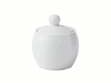 Lomonosov Porcelain Sugar Bowl Olympia White 8.5 fl.oz/250 ml