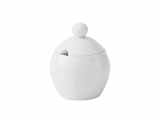 Lomonosov Porcelain Sugar Bowl Autumn Fall White 6.8 fl.oz/200 ml