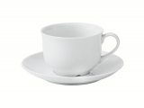 Lomonosov Porcelain Tea Cup and Saucer Olympia White 10.1 fl.oz/300 ml