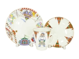 Lomonosov Imperial Porcelain Bone China Cup and Saucer May Ballet Petrushka 5.6 fl.oz/165 ml 3 pc