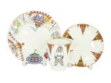 Lomonosov Imperial Porcelain Bone China Cup and Saucer May Ballet Petrushka 5.6 fl.oz/165 ml 3 pc