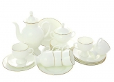 Porcelain Bone China Coffee Set 6/20 Classic-2 Golden Ribbon