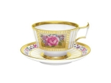 Imperial Lomonosov Porcelain Tea Set Cup with Saucer Alexandria Recollection 8.4 oz/250 ml