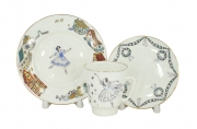 Lomonosov Imperial Bone China Cup and Saucer May Ballet Giselle 5.6 fl.oz/165 ml 3 pc