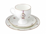 Easter Bone China Espresso Coffee Set Pink Cup Set 5.4 oz/160 ml 3pc