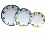 Easter Porcelain Salad and Dessert Plates Set 3 pc Emerald