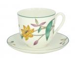 Lomonosov Imperial Bone China Cup and Saucer Carnation & Daffodil 6 oz/180ml