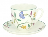 Lomonosov Imperial Bone China Cup and Saucer Colorful Summer 6 oz/180ml