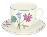 Lomonosov Imperial Bone China Cup and Saucer Meadow Flowers 6 oz/180ml