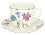 Lomonosov Imperial Bone China Cup and Saucer Meadow Flowers 6 oz/180ml