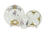 Lomonosov Imperial Porcelain Bone China Cup and Saucer May Ballet Cinderella (Prokofiev) 5.6 fl.oz/165 ml 3 pc