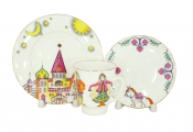 Lomonosov Imperial Porcelain Bone China Cup and Saucer May Ballet Little Humpbacked Horse 5.6 fl.oz/165 ml 3 pc