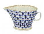 Russian Porcelain Gravy Boat Youth Cobalt Net 5.1 fl.oz/150 ml