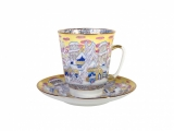 Bone China Cup and Saucer May Frosty Evening 5.6 fl.oz/165 ml