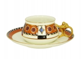 Lomonosov Porcelain Tea Cup Set 2 pc Bilibina Vasilisa Fairytale 6 oz/180 ml