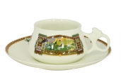 Lomonosov Porcelain Tea Cup Set 2 pc Bilibina Magical Landscape 6 oz/180 ml