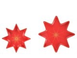 Lomonosov Porcelain Star Serving Platter Dish Set Scarlet