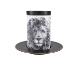 Lomonosov Porcelain Mug and Saucer Totem LION