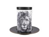 Lomonosov Porcelain Mug and Saucer Totem LION