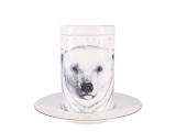 Lomonosov Porcelain Mug and Saucer Totem POLAR BEAR