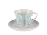 Lomonosov Porcelain Tea Set Cup and Saucer Banquet Dublin 7.4 oz/220 ml