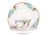 Lomonosov Porcelain Tea Cup Set 3pc Spring Aroma