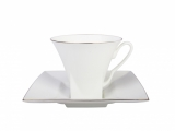 Bone China Cup and Saucer Golden Edge 8.45 oz/250 ml