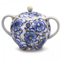 Lomonosov Imperial Porcelain Sugar Bowl Bindweed 15 oz/450 ml
