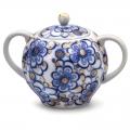 Lomonosov Imperial Porcelain Sugar Bowl Bindweed 15 oz/450 ml
