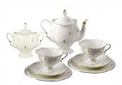 Lomonosov Porcelain Tea Set Service Natasha Eyelets 20 pc