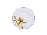 "Lomonosov Porcelain Cake Dessert Plate Yellow Orchid 8""/200 mm"