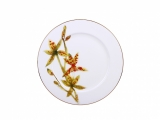 "Lomonosov Porcelain Dinner Plate Yellow Orchid 10.6""/270 mm"