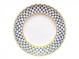 """Lomonosov Dinner Flat Plate Cobalt Net 10.6""""/270 mm"""